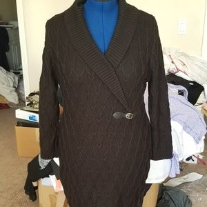 Calvin Klein Black Knit Sweater Dress